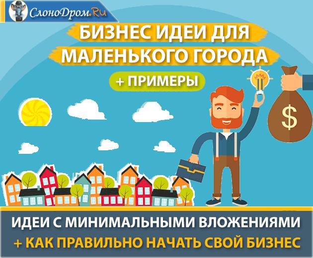 Идеи для бизнеса с минимальными вложениями в маленьком городе 2017