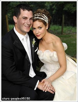 Алиса Милано с мужем