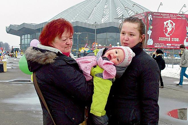 Мария Королева с дочерью и внучкой