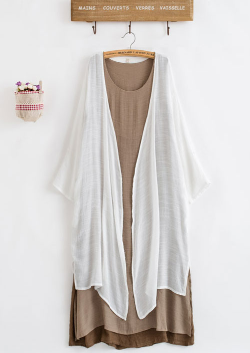 длинное многослойное платье балахон в стиле бохо для полных женщин после 50