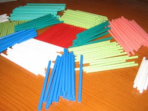 Палочки пластиковые производство