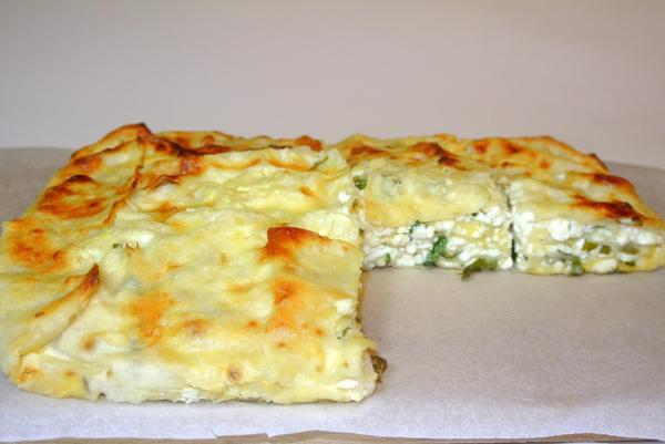 Лаваш сыр и зелень