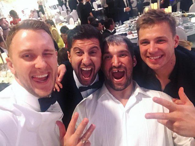Александр Овечкин с друзьями