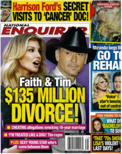 Faith hill and tim mcgraw split