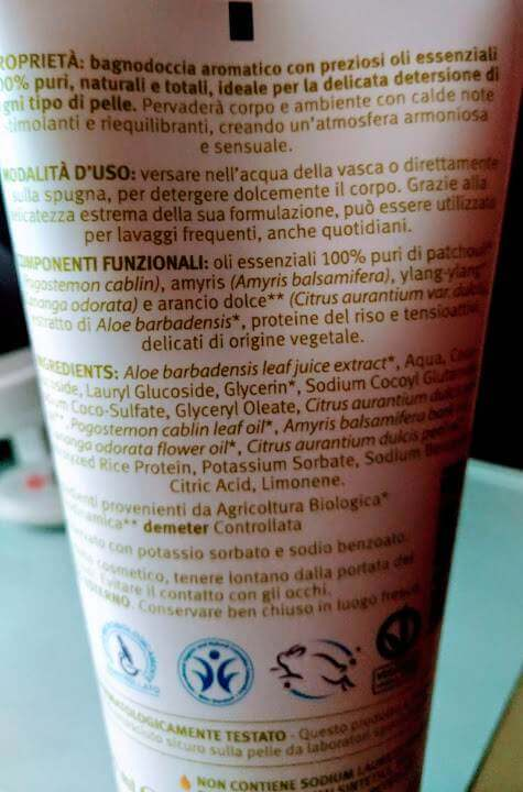 Bagnodoccia dolci sensi 200 ml bio-bdih per doccia stimolante