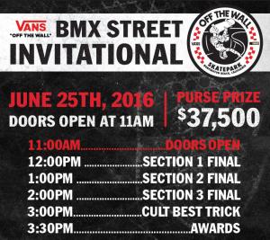 2016 Vans BMX Street Invitational