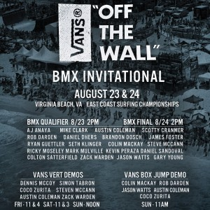 "Vans ""Off The Wall"" BMX Invitational at ECSC"