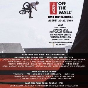 "2015 Vans ""Off The Wall"" BMX Invitational at ECSC"