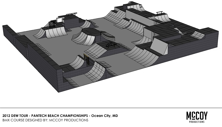 2012 Dew Tour BMX Park Course - Ocean City, MD - McCoy Productions
