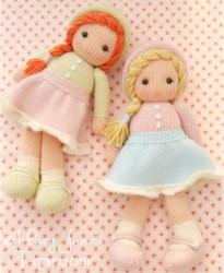 Схема вязания спицами куклы