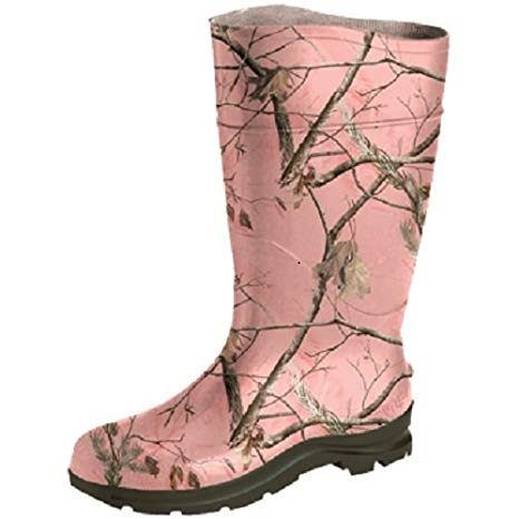 Realtree pink camo rubber boots