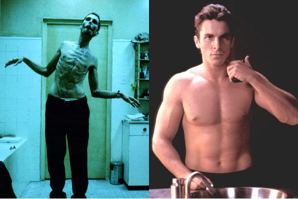Christian bale lose weight diet