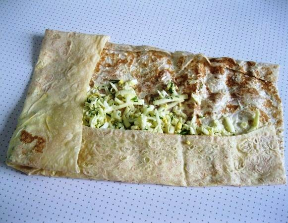 Армянский лаваш с сыром на сковороде