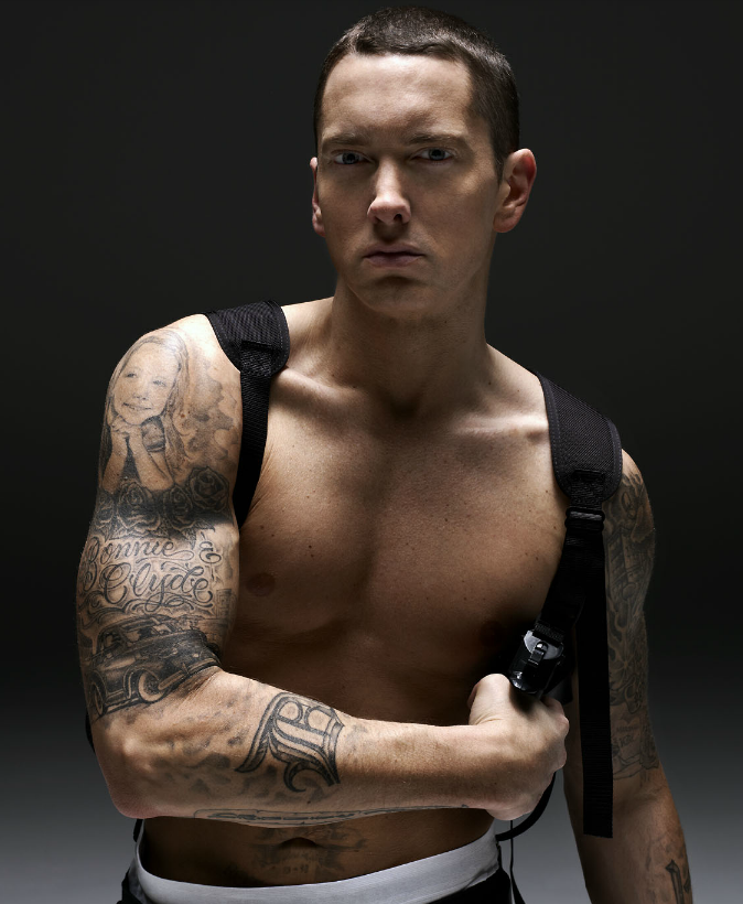 Images of eminem with no shirt