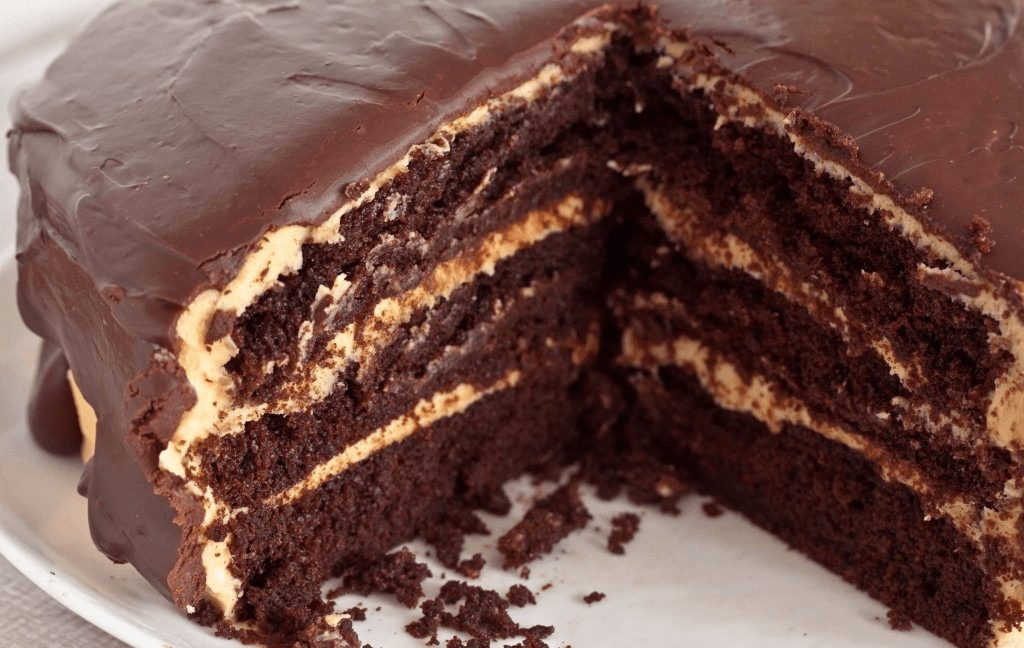 Шоколадный торт по Дюкану в разрезе