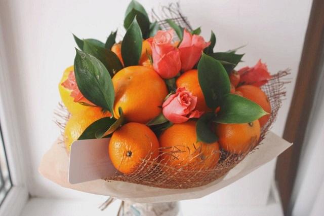 Идеи фруктовых букетов