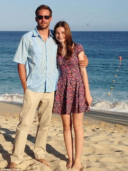 Пол Уокер с дочкой