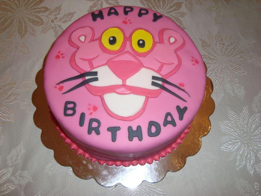 Birthday cake pink panther