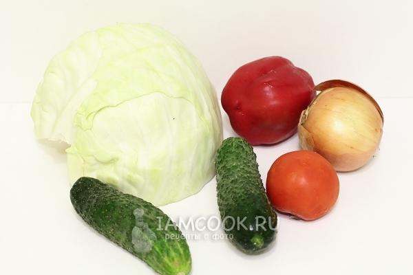 Салат из огурцов капусты и перца на зиму рецепты с фото