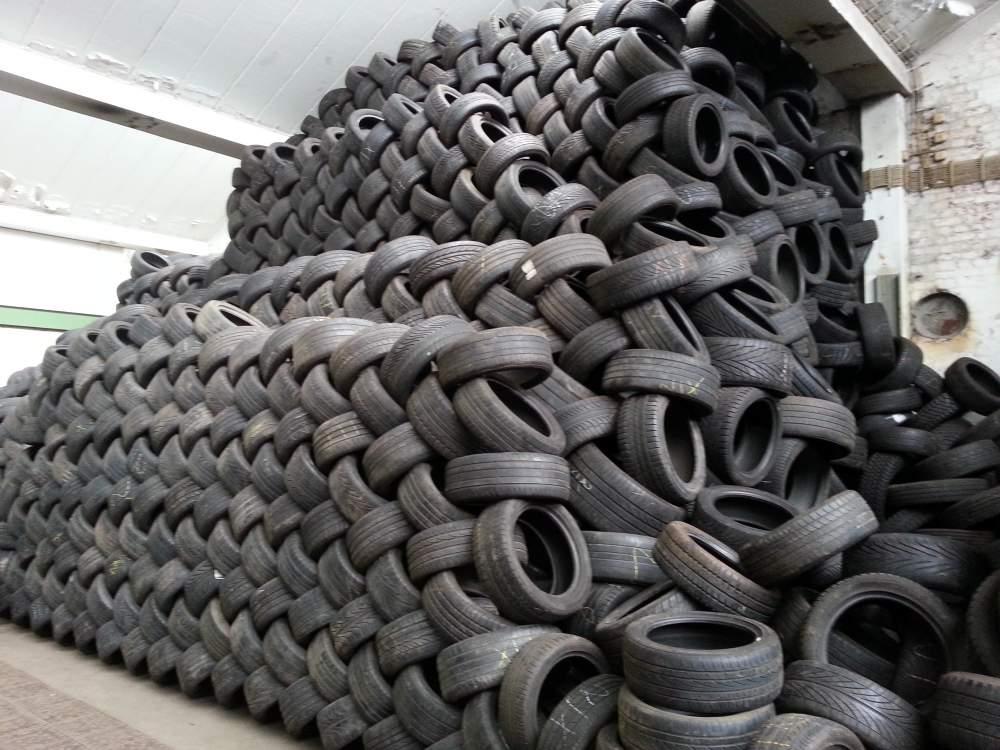 Переработка шин в гараже
