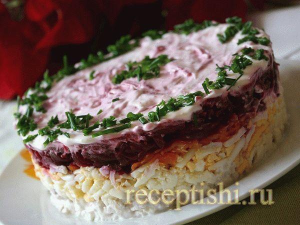 Мясо свекла салат