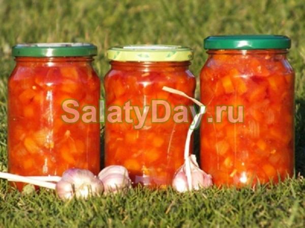 Салат на зиму морковно-чесночный