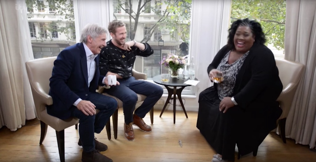 Harrison Ford and Ryan Gosling Outrageous Celebrity Interview