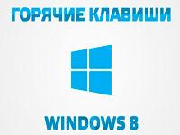 Основные сочетания горячих клавиш Windows 8