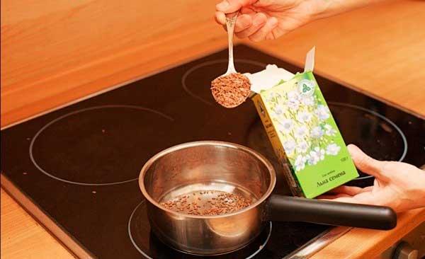 Семена льна и кефир для очищения кишечника