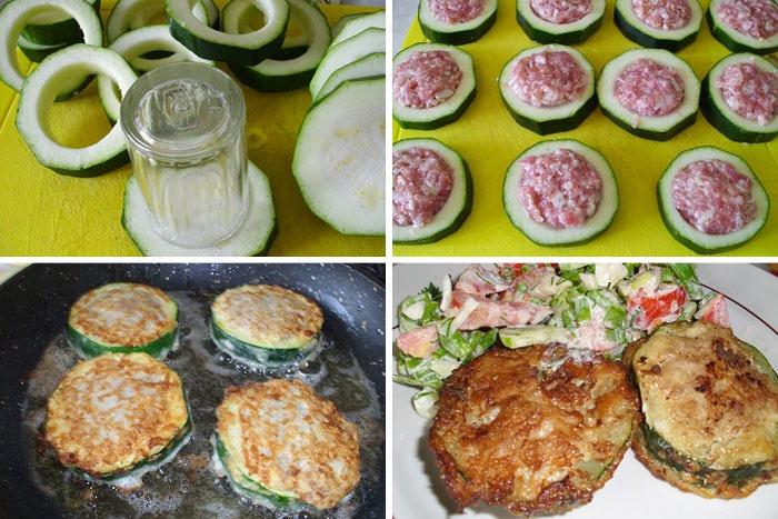 Кабачки с мясом в кляре рецепт с фото пошагово