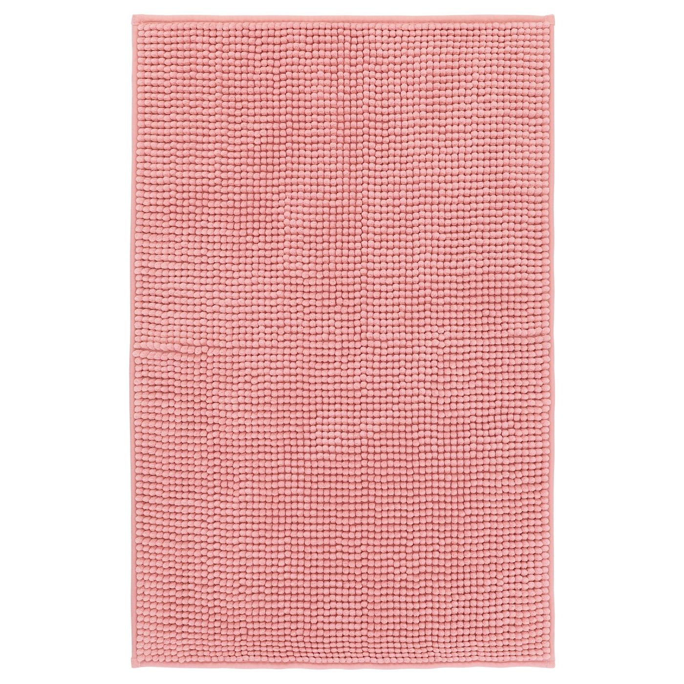 Light pink bath mats