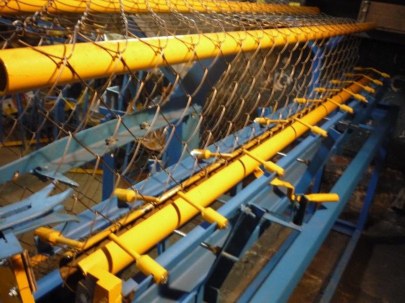 Настройка станка по производству сетки рабицы