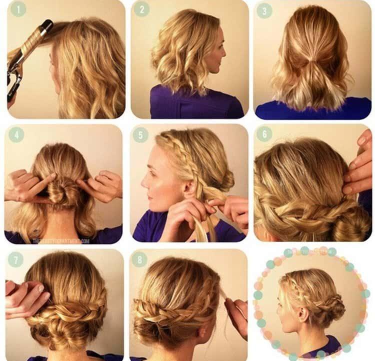 На фото вы можете увидеть отличные варианты прически на волосы до плеч.