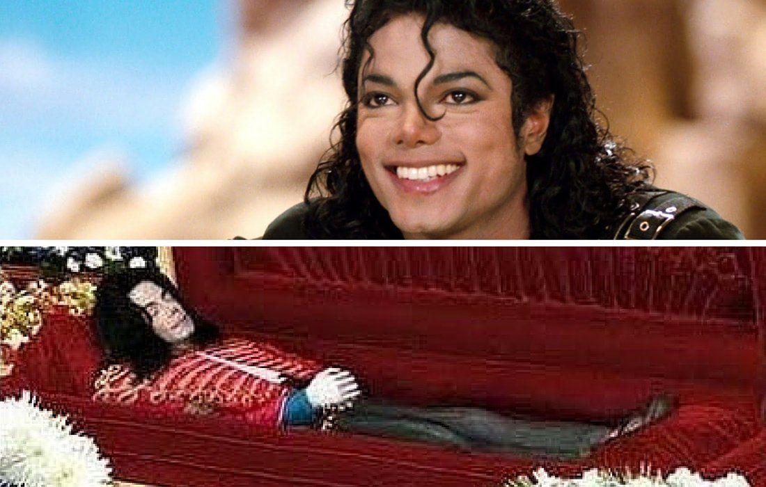 Photos of dead celebrities in coffins