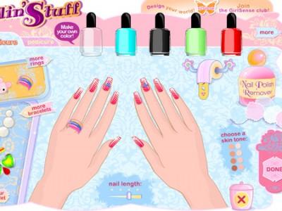 Design nails games for girls online