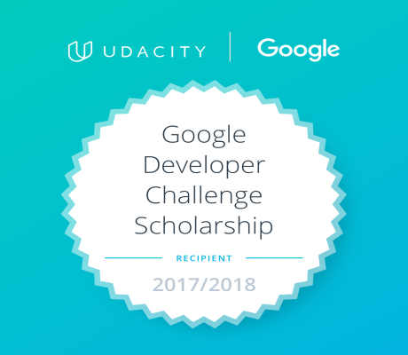 my Google Frontend Web Developer Scholarship