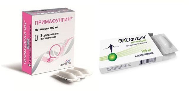 Примафунгин супозиторії вагінальні і Экофуцин супозиторії вагінальні