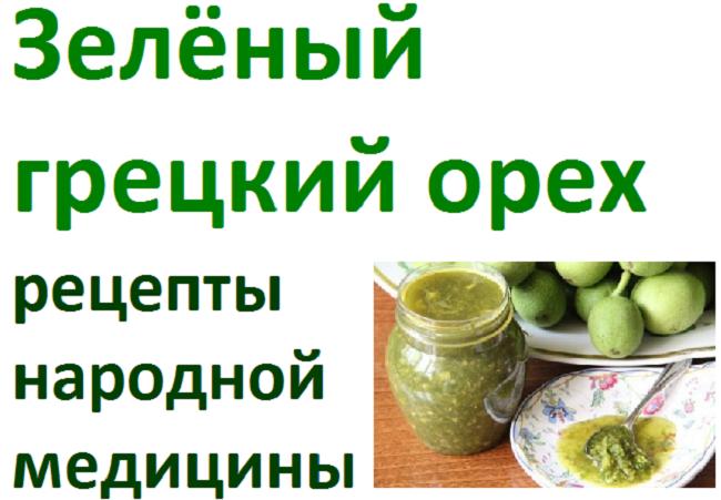 Зеленые грецкие орехи рецепты с сахаром