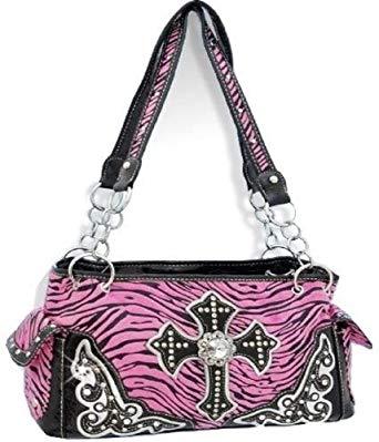 Pink zebra cross purse
