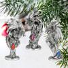 Three Dragons of the Amesbury Holiday Gemstone Ornament Set