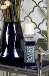 Glam Clear Mirror Candlestick Holder
