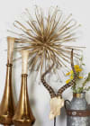 Contemporary Gold Metal Set of 3  Wall Decors