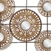 Modern Ornamental Brown  Metal Wall Decor