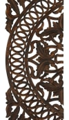 Traditional Brown Wood Set of 3  Wall Decors