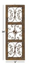 Rustic Ornamental Brown Metal Wall Decor