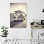 Surfers' Vintage VW Bus Canvas Giclee - 2