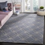 Safavieh Hand Knotted Wool Blue Rug - 1
