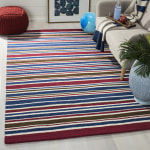 Safavieh Red & Blue Striped Rug - 1