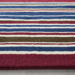 Safavieh Red & Blue Striped Rug - 5