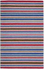 Safavieh Red & Blue Striped Rug - 3